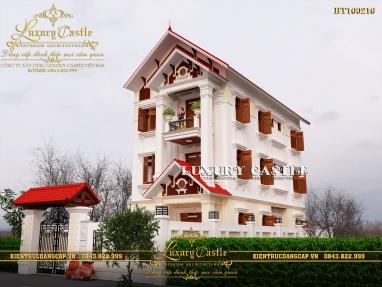 Lạc lối với mẫu biệt thự phố mặt tiền 7.6m đẹp 3 tầng hoàn mỹ tại Nam Định BT160216