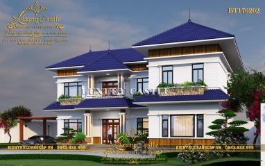 Biệt thự vườn chữ L 2 tầng có sân chơi rộng chuẩn phong thủy tại Phú Thọ BT170202