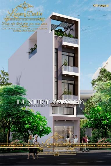 Mẫu biệt thự phố mặt tiền 3.9m hiện đại để ở và kinh doanh tại Lào Cai NP170816