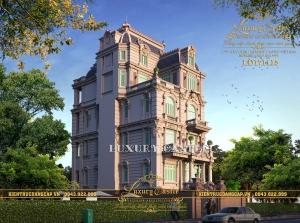 Dinh thự 5.5 tầng kiến trúc Pháp cổ điển thượng lưu mái Mansard kiên cố LD171115