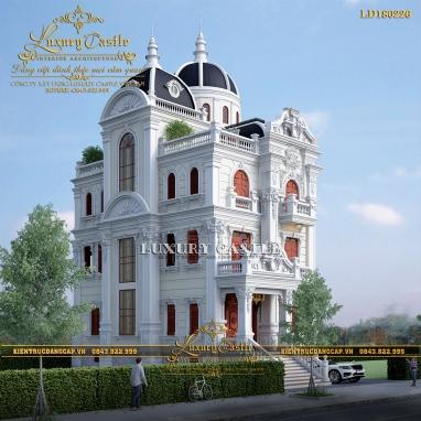 Mẫu biệt thự lâu đài đồ sộ 3 tầng chinh phục mọi mắt ngắm tại Nghệ An LD180226