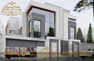 Sang trọng với biệt thự hiện đại 3 tầng với vật liệu kính hòa hợp với thiên nhiên BT180612