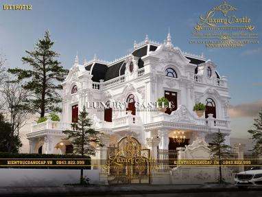Vẻ đẹp hoàn mỹ của mẫu biệt thự cổ điển Pháp 2 tầng mặt tiền 8.6m x 13.5m BT180712