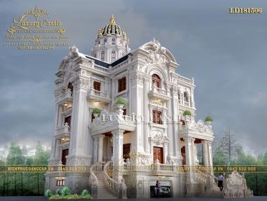 Uy nghi bề thế tột bậc với lâu đài xa hoa bậc nhất Ninh Bình 3 tầng có bán hầm LD181506