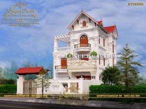 Mê mẩn với vẻ đẹp hoàn mỹ của biệt thự 3 tầng mặt tiền 8.6m tỉ lệ chuẩn kiểu Pháp BT190201