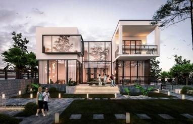 Biệt thự 2 tầng hiện đại 10.5m x 11m như homestay nghỉ dưỡng yên bình tại Đà Lạt BT190203