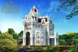 Tòa biệt thự lâu đài 4 tầng mái vòm đồ sộ hoành tráng bậc nhất Tỉnh Long An LD190321