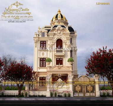 Biệt thự lâu đài 3 tầng mái vòm đẳng cấp đến từng chi tiết LD190401
