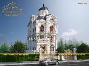 Mẫu biệt thự lâu đài 3 tầng mặt tiền 8m đỉnh cao kiến trúc Pháp cổ LD190501