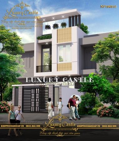 Biệt thự phố 2.5 tầng hiện đại mặt tiền 4.5m sang trọng với sân thượng xanh NP190512