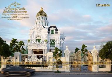 Vẻ đẹp lộng lẫy kiêu sa của mẫu lâu đài 2 tầng 1 tum 10m x 14.8m tại Sài Gòn LD190526
