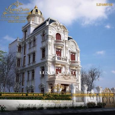 Kiệt tác biệt thự lâu đài 4 tầng 1 tum bậc nhất tại Nam Định LD190716