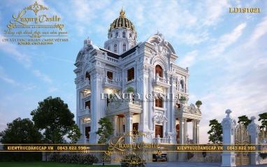 Lâu đài 3 tầng dát vàng đánh gục mọi trái tim với vẻ đẹp hoàn mỹ cao quý LD191021