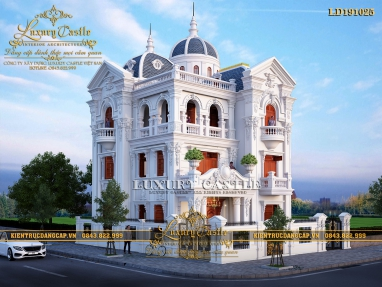 Xao xuyến với mẫu biệt thự lâu đài 3 tầng lộng lẫy mặt tiền 11m x 10m LD191025