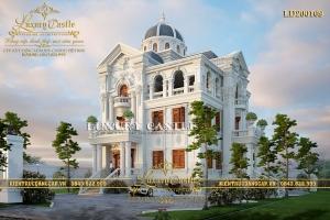 Lâu đài 3 tầng có bán hầm mặt tiền 12m đồ sộ kiến trúc Pháp cổ điển chuẩn mực LD200109