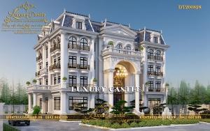 Vẻ đẹp kiều diễm đồ sộ trong mẫu thiết kế dinh thự 5 tầng 25.8m x 18m DT200828