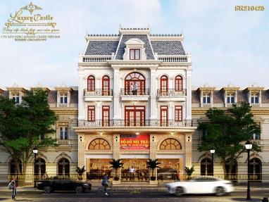 Hoàng tráng với showroom 5 tầng kiểu Pháp để ở và kinh doanh tại Nam Định SR210425