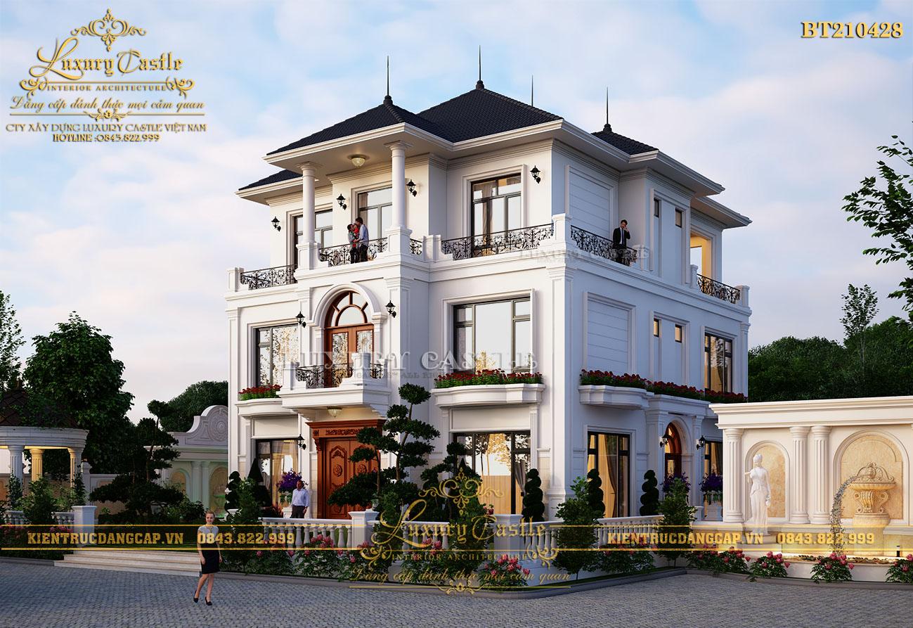 Siêu phẩm biệt thự 3 tầng đúng chuẩn kiểu Pháp sân vườn rộng phong thủy có 102 BT210428
