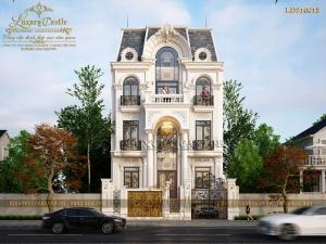 Phô diễn vẻ đẹp kiều diễm mẫu biệt thự 5 tầng kiểu Pháp mái Mansard tại Lạng Sơn BT210613