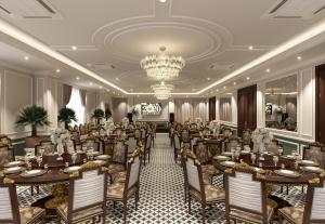 Thiết kế nội thất nhà ăn bộ công thương hoành tráng