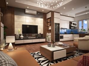 Thiết kế nội thất chung cư 70m2 đẹp 36 Hoàng Cầu - Hà Nội