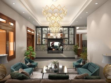 Thiết kế nội thất biệt thự hiện đại chuẩn phong thủy lộc tài tại Hưng Yên