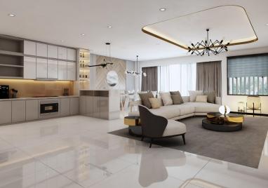 Nội thất hiện đại chung cư An Bình City 3 phòng ngủ 75m2 ông Hồng - Hà Nội