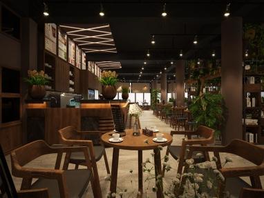 Thiết kế nội thất quán cafe sang trọng, hiện đại, ấn tượng đốn tim mọi vị khách