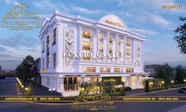 Thiết kế nhà hàng tiệc cưới phong cách Pháp tân cổ 5 tầng sang trọng bậc nhất Quảng Ninh NH180211