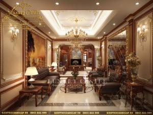 Phân tích vẻ đẹp thẩm mỹ không gian phòng khách và đại sảnh biệt thự cao cấp tại Nam Định