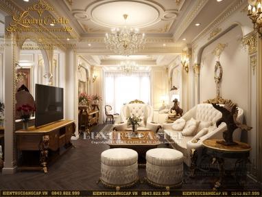 Mẫu thiết kế nội thất biệt thự tân cổ điển quyền lực không góc chết tại Hà Nội
