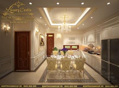 Thiết kế phòng bếp ăn sang trọng kiểu dáng hoàng gia được yêu thích nhất