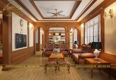 Sang trọng và ấn tượng với thiết kế nội thất biệt thự tân cổ điển hoàng gia tại Hà Nội