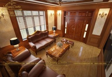 Nội thất biệt thự gỗ tự nhiên - gia tăng giá trị ngôi nhà đẹp ông Phùng - Hà Nội