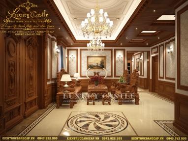 Lạc lối với nội thất biệt thự phong cách hoàng gia gỗ tự nhiên cao cấp chỉ dành cho giới thượng lưu