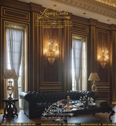 Khám phá sức hấp dẫn đầy mê của nội thất phòng khách cổ điển lâu đài hoàng gia đẹp