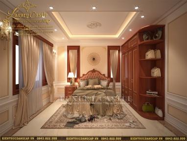 Mẫu nội thất phòng ngủ tân cổ hoàng gia cao cấp tuyệt vời phù hợp với giới thượng lưu