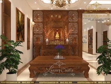 Thiết kế nội thất biệt thự tân cổ điển mặt tiền 8m đẹp gỗ gõ đỏ quý sang trọng