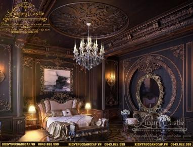 Vẻ đẹp giàu sang quý tộc của mẫu nội thất phòng ngủ lâu đài hoàng gia tại Sài Gòn