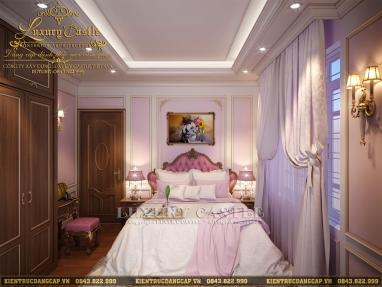 Mẫu nội thất phòng ngủ tân cổ điển biến bé xinh thành công chúa cổ tích quý phái