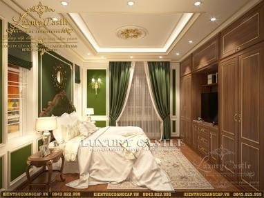 Mẫu thiết kế nội thất biệt thự 3 tầng kiểu Pháp tân cổ điển tại Nghệ An