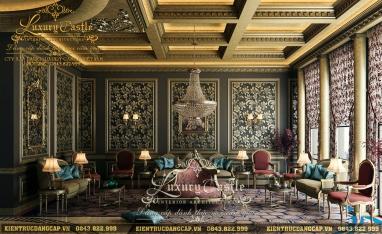 Vẻ đẹp vượt thời gian của mẫu nội thất lâu đài cổ điển xa hoa tráng lệ bậc nhất Sài Thành