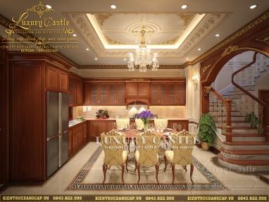 Thưởng thức bữa ăn quý tộc với mẫu nội thất bếp ăn hoàng gia biệt thự tân cổ Hải Dương