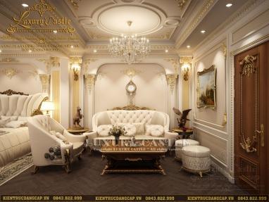 Vẻ đẹp quý phái của nội thất phòng khách tân cổ điển cao cấp tại Hà Nội
