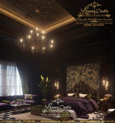 Mê đắm với vẻ đẹp quyến rũ, giàu sang của mẫu phòng ngủ Master cổ điển tại Phú Thọ