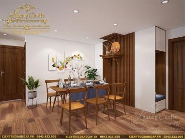 Nội thất không gian bếp ăn kết hợp ban thờ chung cư và các tối ưu không gian thông minh