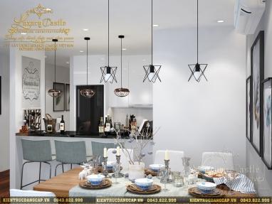 Thiết kế nội thất chung cư 70m2 2 phòng ngủ phong cách Bắc Âu (CĐT: ông Tiến - Hà Nội)