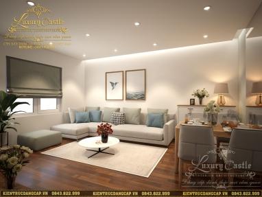 Mẫu nội thất chung cư 2 phòng ngủ V-Tower hiện đại sang trọng tại Hà Nội