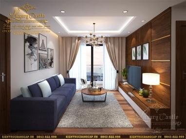 Đơn giản, sang trọng và tiện nghi với nội thất phòng khách chung cư mini anh Toàn - Hà Nội