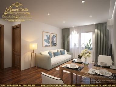 Thiết kế nội thất chung cư V-Tower 70m2 2 phòng ngủ hiện đại tinh tế